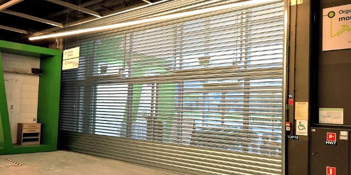 Zabezpieczenie marketu budowlanego przy zapewnieniu wymiany mas powietrza